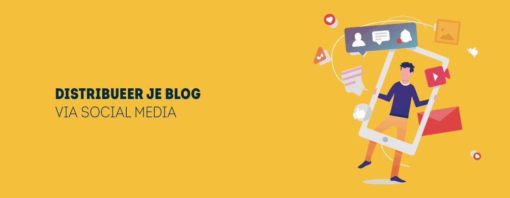 Blog verspreiden via social media