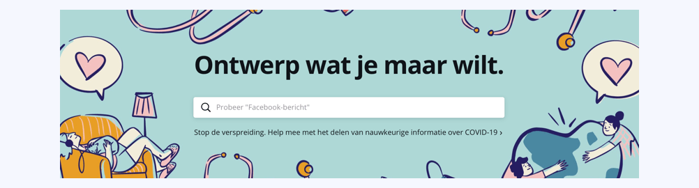 Canva is een handig tool voor social media-templates.