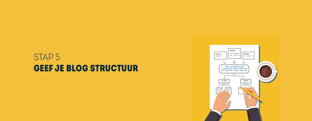 De structuur van een blog bepalen