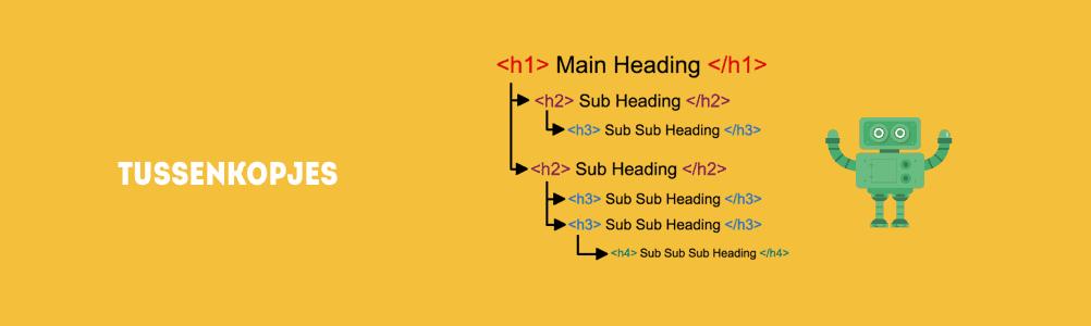 Tussenkopjes en titels zorgen voor structuur