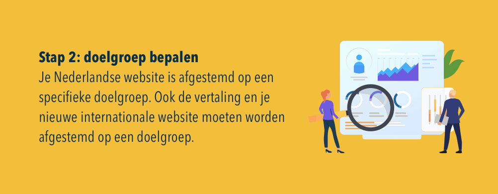 doelgroep internationale website