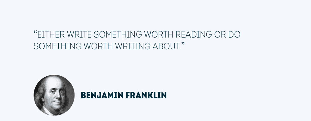 Content quote van Benjamin Franklin