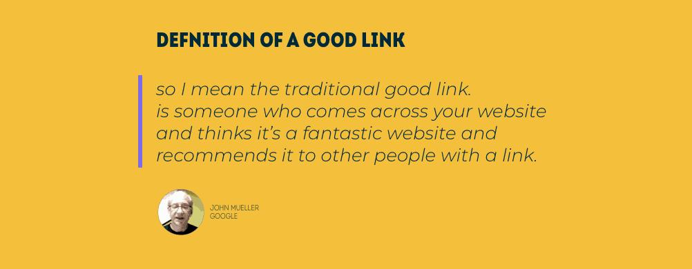 Definitie van een goede link