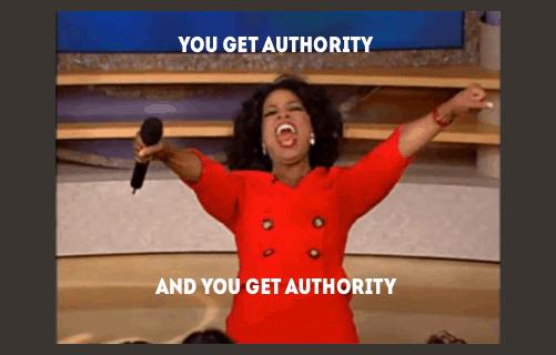 Opbouwen van autoriteit