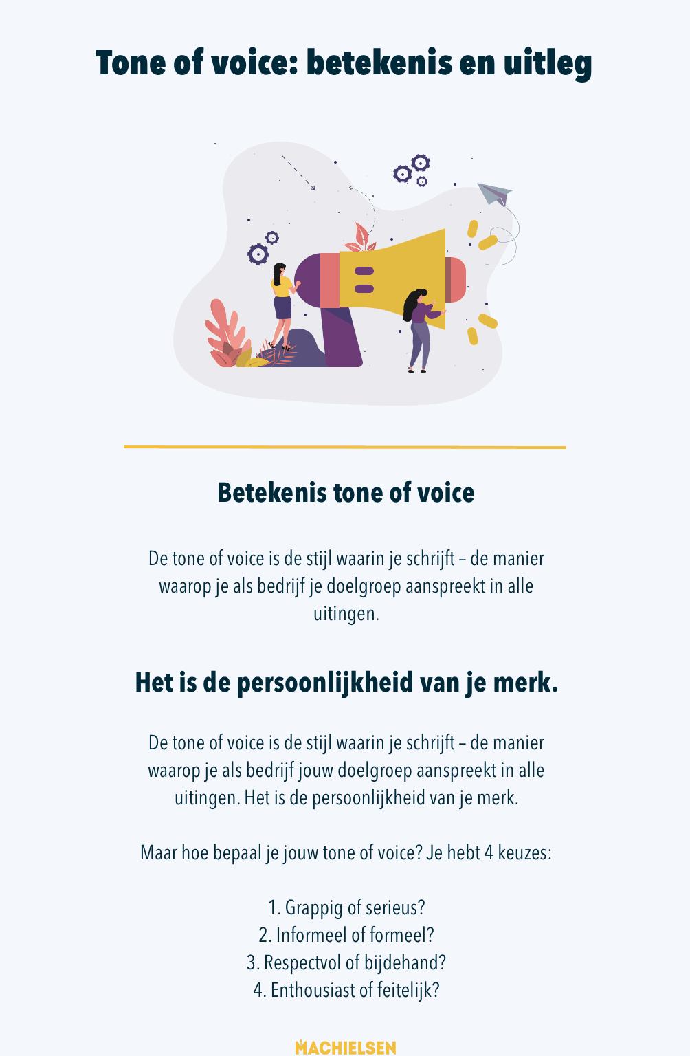 Een tone of voice is de persoonlijkheid van je merk