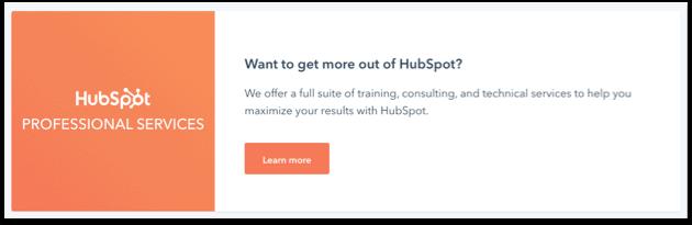Hubspot support voorbeeld