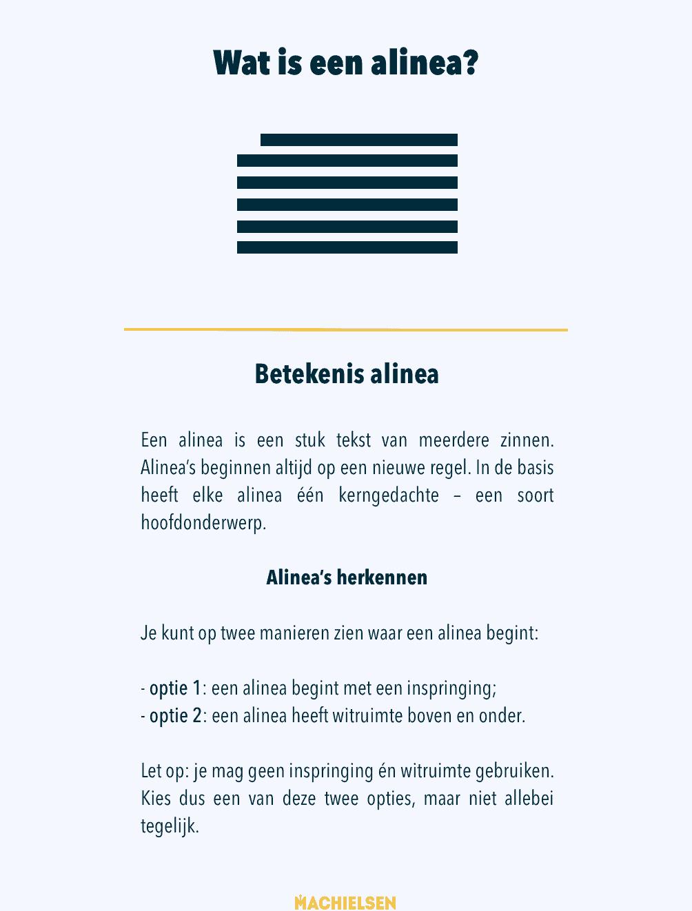 alinea-betekenis