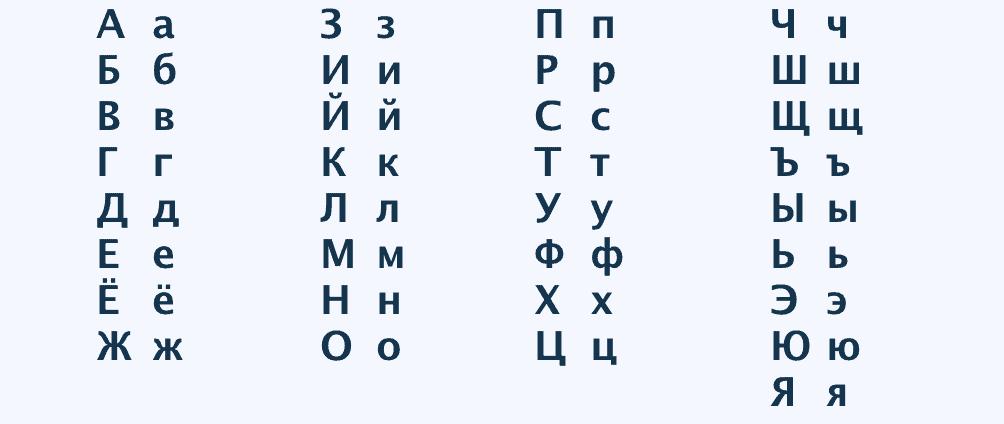 cyrillisch schrift russisch