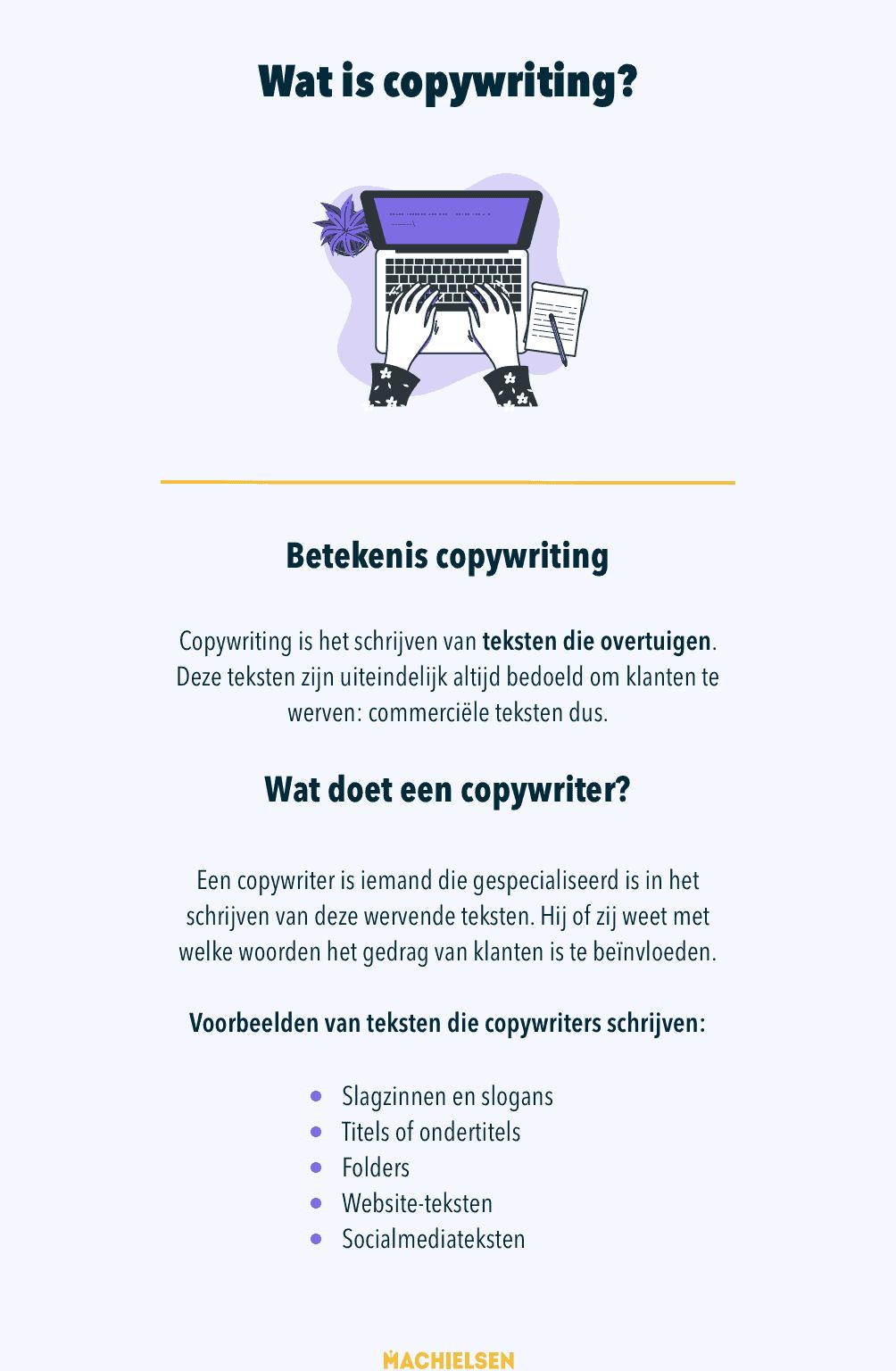 infographic met uitleg over copywriting