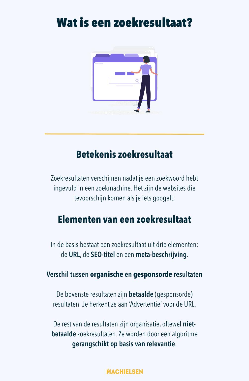 infographic wat is een zoekresultaat